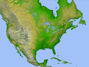 Elevation Raster Data - Terrain map of the us
