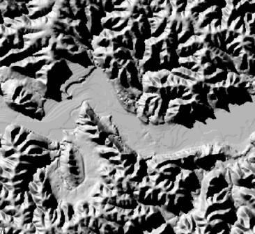 Elevation Raster Data - Grayscale height map us
