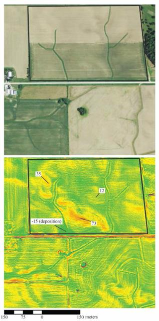 Estimating Soil Erosion Using Lidar Derived Terrain Attributes And 137cs Concentrations In Soils