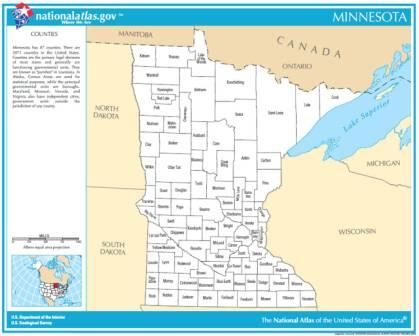 Map Gallery - State of minnesota map