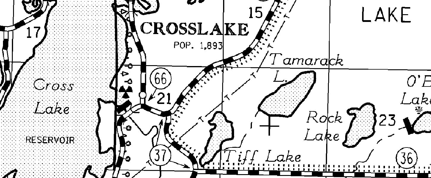 Sample of County Highway Map, Crow Wing County