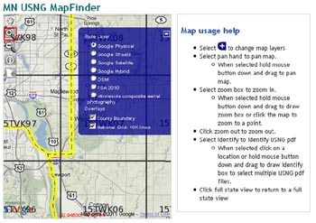 U.S. National Grid Maps for Minnesota