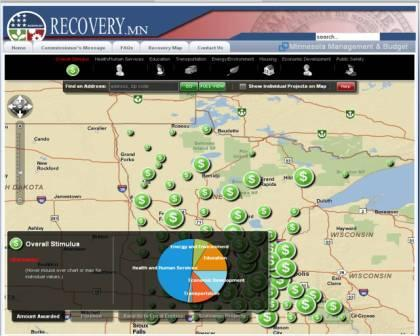 Stimulus funding map for Minnesota